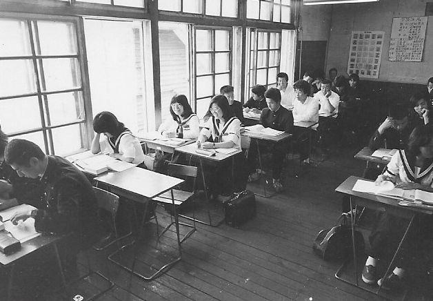 昭和51年 羽幌高校授業風景