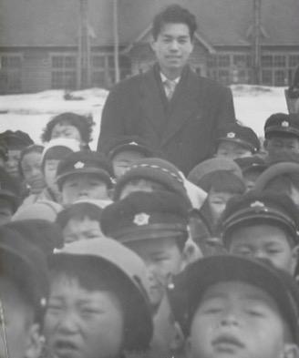 昭和30年頃 古丹別小学校前