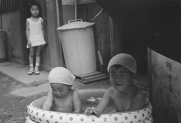 昭和39年 水浴び