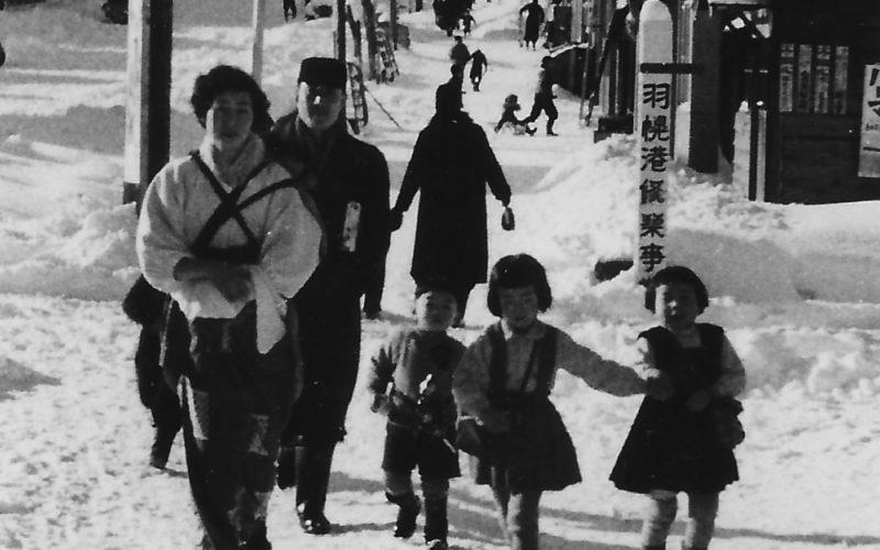 昭和31年 冬の羽幌町大通り