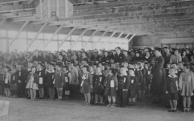 昭和30年頃 羽幌小学校入学式