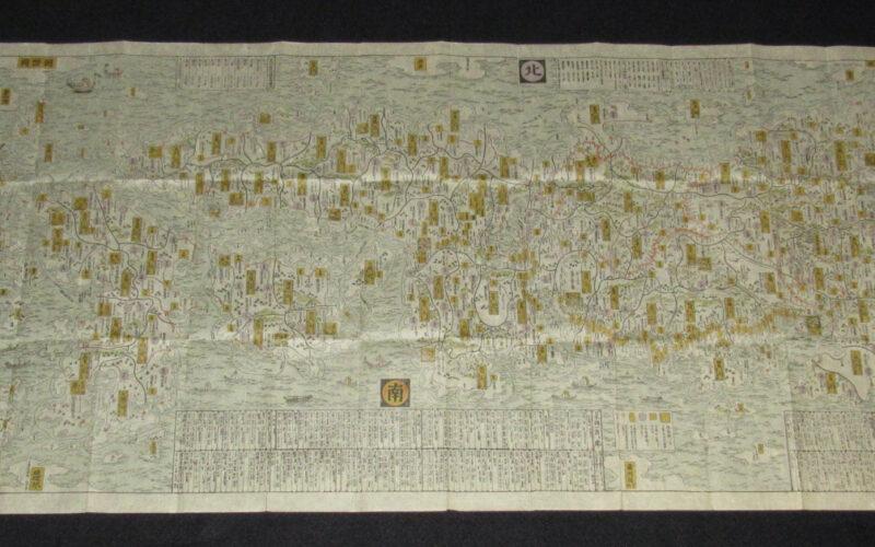 「【古地図】日本海山潮陸図 板本 江戸 相模屋太兵衛 元禄4年」